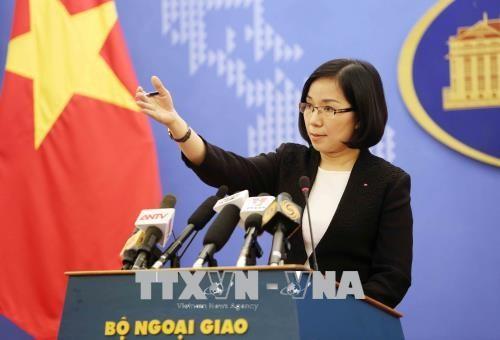 Việt Nam yêu cầu chấm dứt ngay các hoạt động tập trận bắn đạn thật tại đảo Ba Bình  - ảnh 1