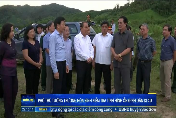 Phó Thủ tướng Thường trực Chính phủ Trương Hòa Bình làm việc với huyện Mường Nhé - ảnh 1
