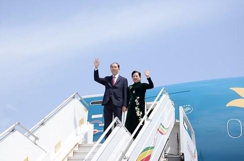 Chủ tịch nước Trần Đại Quang bắt đầu chuyến thăm cấp Nhà nước Ethiopia - ảnh 1