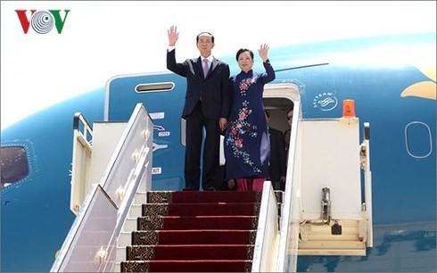 Chủ tịch nước Trần Đại Quang thăm cấp Nhà nước đến Ai Cập - ảnh 1