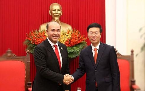 Việt Nam luôn coi trọng phát triển quan hệ với Campuchia - ảnh 1