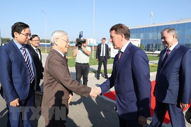 Tổng Bí thư Nguyễn Phú Trọng thăm tỉnh Kaluga của Liên bang Nga - ảnh 1