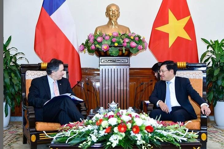 Phó Thủ tướng, Bộ trưởng Ngoại giao Phạm Bình Minh tiếp Bộ trưởng Ngoại giao Chile Roberto Ampuero Espinoza - ảnh 1