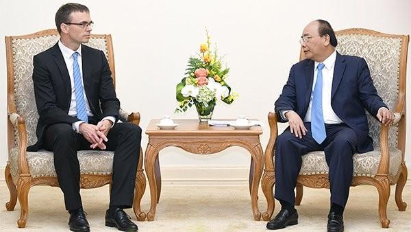 Thủ tướng Nguyễn Xuân Phúc tiếp  Bộ trưởng Ngoại giao Estonia - ảnh 1