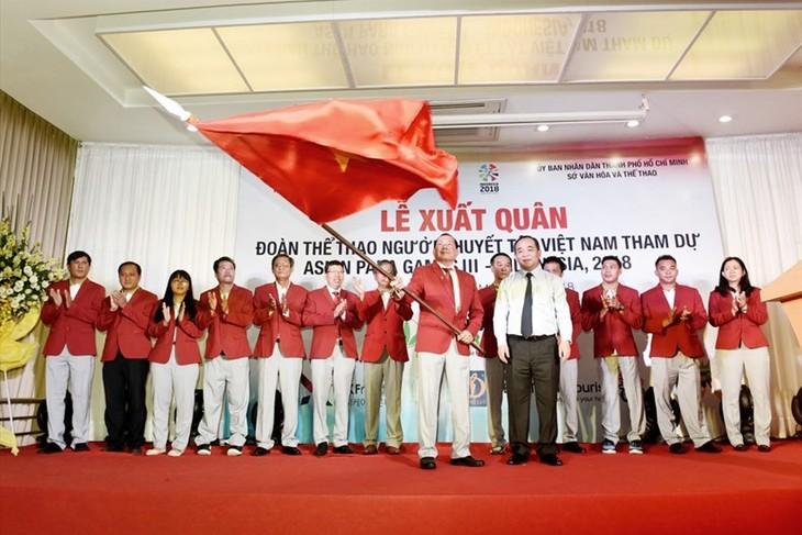 Đoàn thể thao người khuyết tật Việt Nam xuất quân tham dự Para Games 3 Indonesia 2018 - ảnh 1