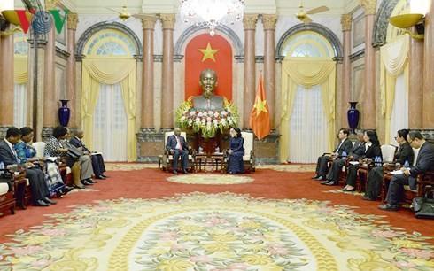 Quyền Chủ tịch nước Đặng Thị Ngọc Thịnh tiếp Nguyên Tổng thống Mozambique - ảnh 2