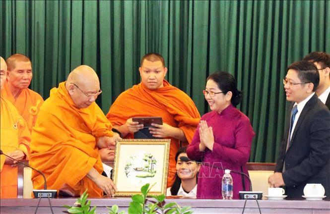 Lãnh đạo Thành phố Hồ Chí Minh tiếp đoàn đại biểu Phật giáo Thái Lan         - ảnh 1