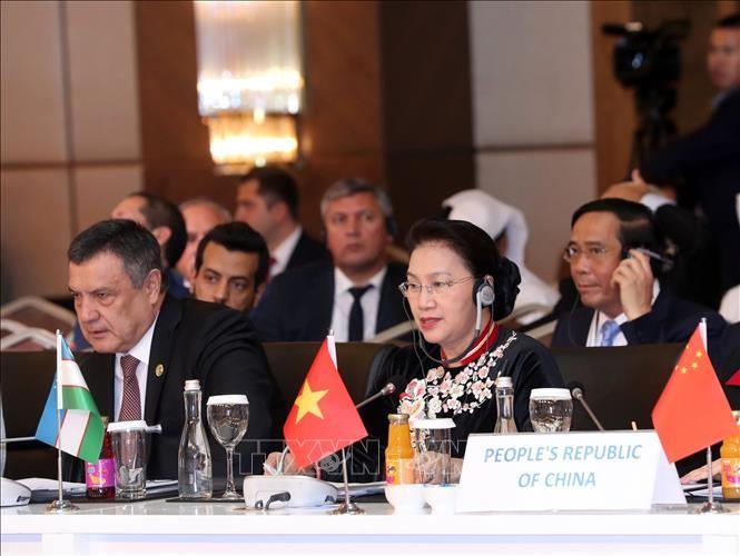 Chủ tịch Quốc hội Nguyễn Thị Kim Ngân phát biểu tại Phiên họp toàn thể thứ nhất Hội nghị Chủ tịch Quốc hội các nước Á Âu lần thứ ba - ảnh 1