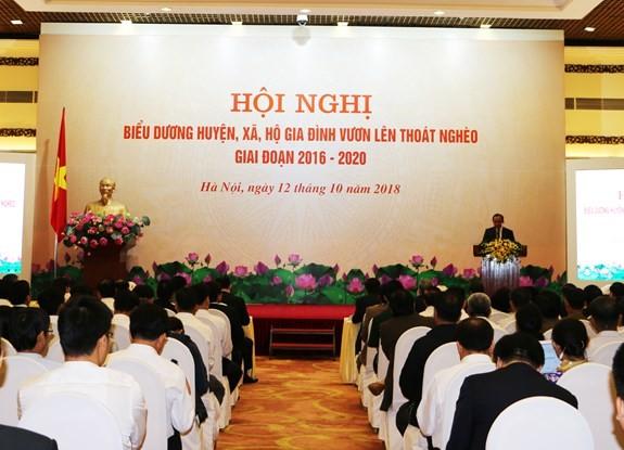 Phó Thủ tướng Vương Đình Huệ biểu dương huyện, xã, hộ gia đình vươn lên thoát nghèo giai đoạn 2016 - 2020  - ảnh 1