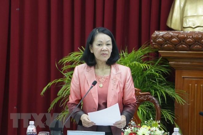 Trưởng ban Dân vận Trung ương Trương Thị Mai làm việc tại Kiên Giang   - ảnh 1