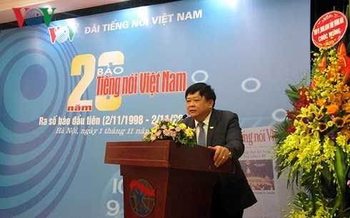 Kỷ niệm 20 năm báo Tiếng nói Việt Nam ra số đầu tiên - ảnh 1