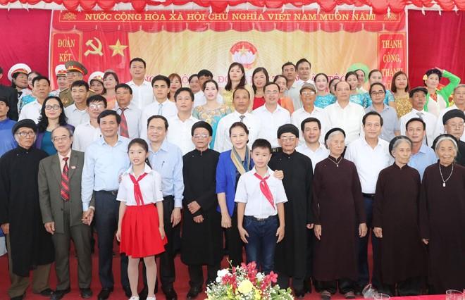 Lãnh đạo Đảng, Nhà nước dự Ngày hội Đại đoàn kết toàn dân tộc tại các địa phương - ảnh 1