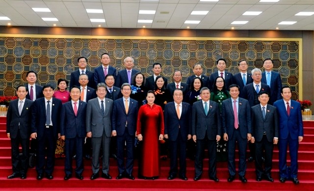 Chủ tịch Quốc hội Hàn Quốc Moon Hee Sang hội đàm với Chủ tịch Quốc hội Nguyễn Thị Kim Ngân  - ảnh 1