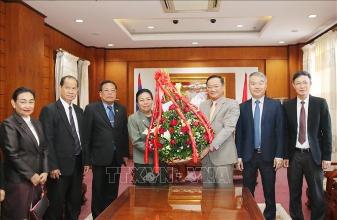 Lãnh đạo Lào chúc mừng 89 năm ngày thành lập Đảng Cộng sản Việt Nam - ảnh 1