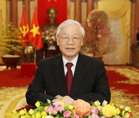 Tổng Bí thư, Chủ tịch nước Nguyễn Phú Trọng chúc tết Xuân Kỷ Hợi 2019 - ảnh 1