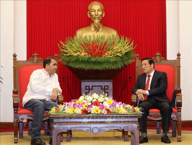 Trưởng Ban Nội chính Trung ương Phan Đình Trạc tiếp Tổng Thư ký Đảng Liên minh Dân tộc Panama - ảnh 1