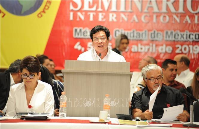 Đoàn đại biểu Đảng Cộng sản Việt Nam dự hội thảo quốc tế tại Mexico - ảnh 1