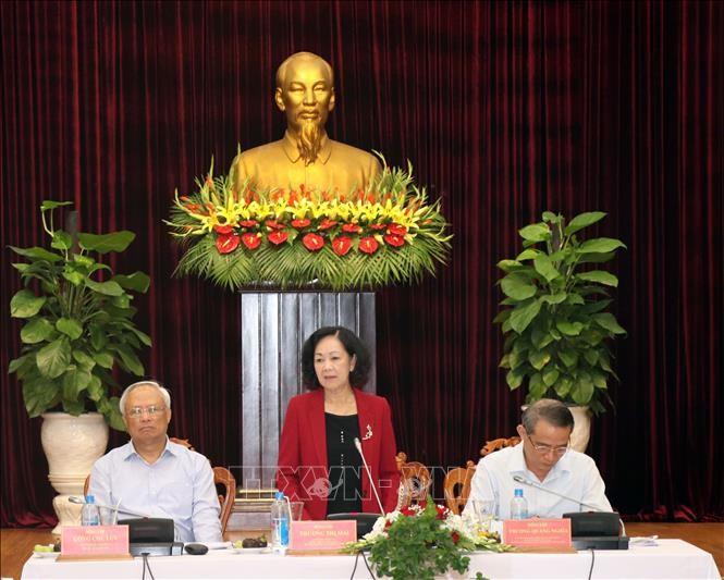 Trưởng Ban Dân vận Trung ương Trương Thị Mai làm việc tại Đà Nẵng - ảnh 1