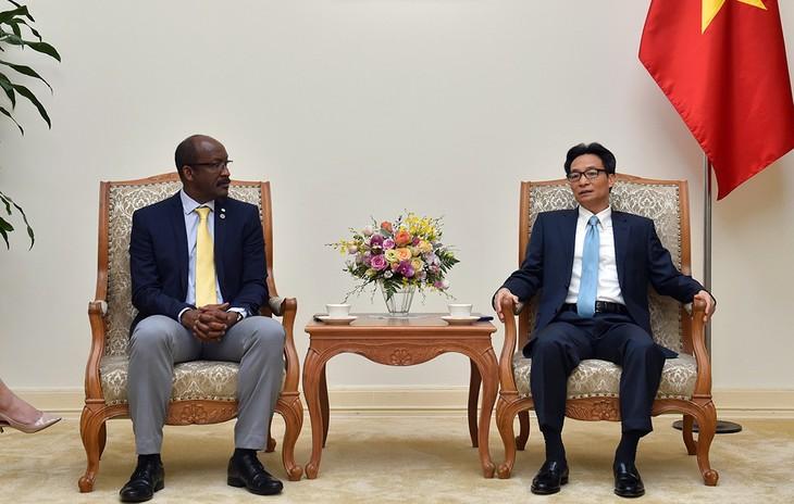Phó Thủ tướng Vũ Đức Đam tiếp Phó Tổng thống Cộng hòa Seychelles - ảnh 1