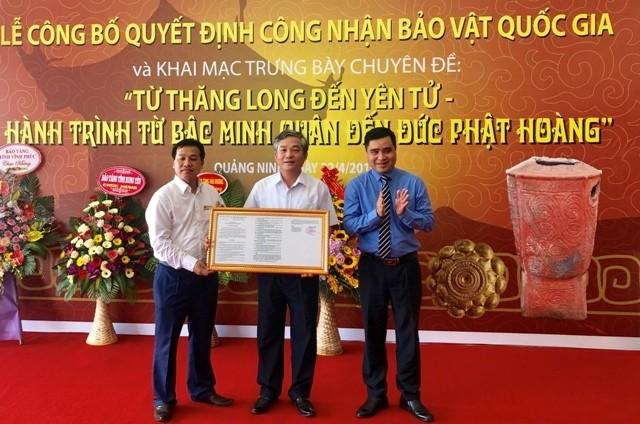 Tỉnh Quảng Ninh công bố quyết định công nhận bảo vật Quốc gia - ảnh 1