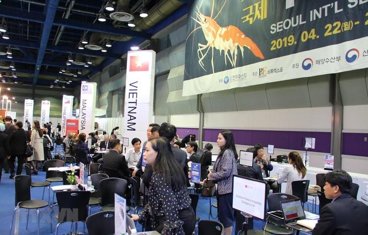 Hải sản Việt Nam khẳng định thương hiệu tại Hội chợ Hải sản quốc tế Seoul 2019 - ảnh 1