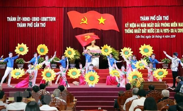 Chủ tịch Quốc hội Nguyễn Thị Kim Ngân dự Lễ kỷ niệm 44 năm Ngày Giải phóng Cần Thơ - ảnh 1
