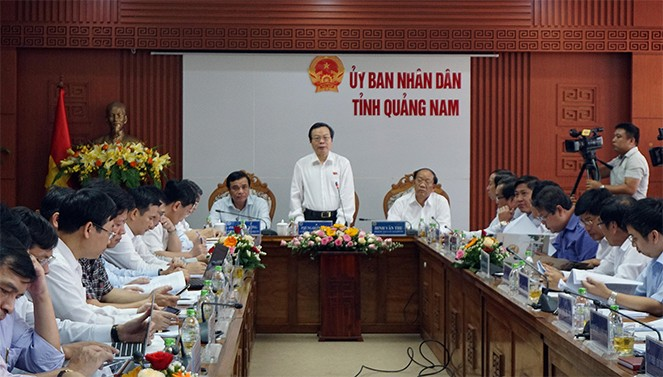 Phó Chủ tịch Quốc hội Phùng Quốc Hiển làm việc với tỉnh Quảng Nam - ảnh 1