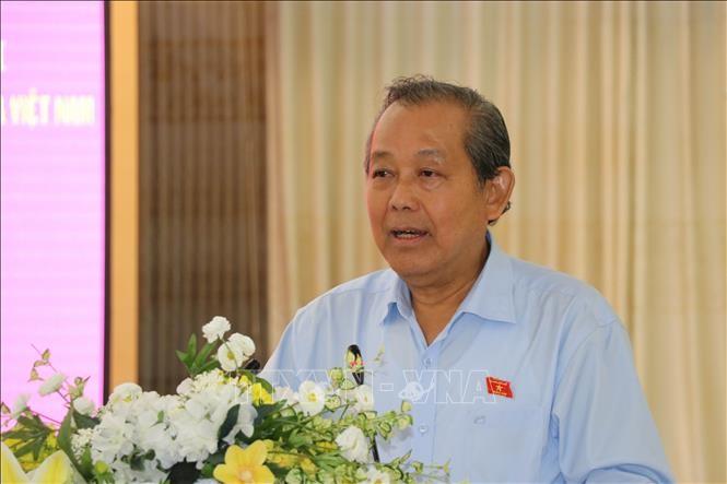 Phó Thủ tướng Thường trực Chính phủ Trương Hòa Bình tiếp xúc cử tri tại Long An - ảnh 1