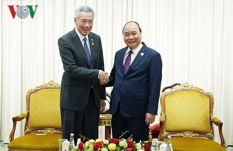 Thủ tướng Nguyễn Xuân Phúc gặp Thủ tướng Singapore Lý Hiển Long - ảnh 1