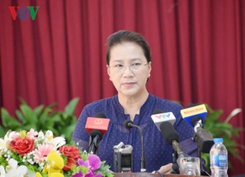 Chủ tịch Quốc hội tiếp xúc cử tri tại quận Cái Răng, TP Cần Thơ - ảnh 1