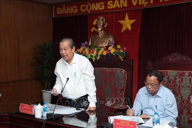 Phó Thủ tướng Thường trực Chính phủ Trương Hòa Bình gặp mặt lãnh đạo tỉnh Bắc Kạn - ảnh 1
