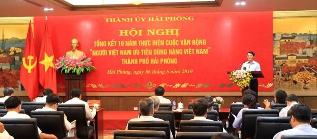 """Hải Phòng tổng kết 10 năm thực cuộc vận động """"Người Việt Nam ưu tiên dùng hàng Việt Nam"""" - ảnh 1"""