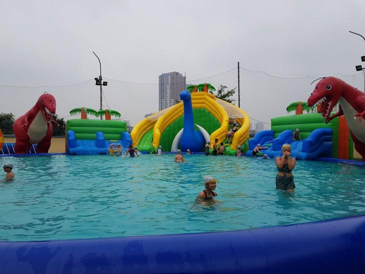 Hà Nội phát động toàn dân học bơi, phòng chống đuối nước - ảnh 1