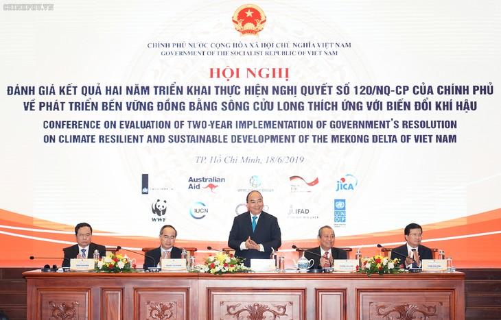 Hội nghị đánh giá 2 năm thực hiện Nghị quyết cvề phát triển bền vững đồng bằng sông Cửu Long  - ảnh 1