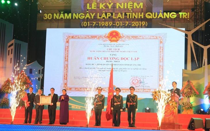 Lễ kỷ niệm 30 năm ngày tái lập tỉnh Quảng Trị - ảnh 1