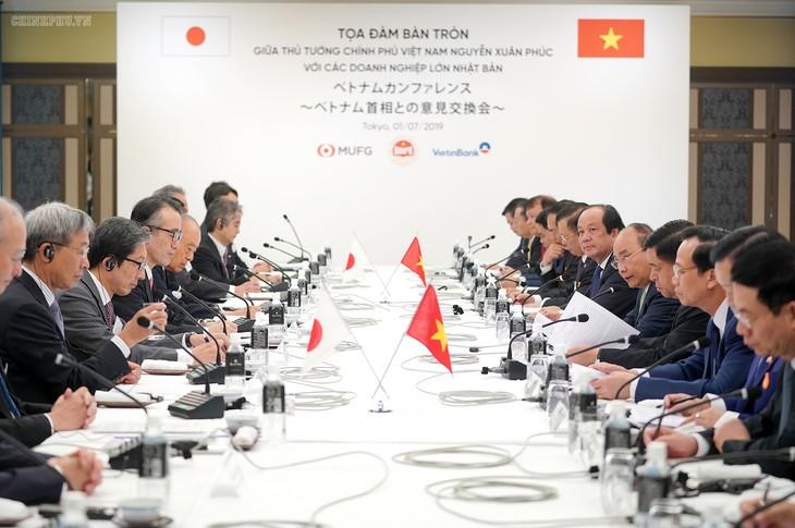 Thủ tướng Nguyễn Xuân Phúc tọa đàm với lãnh đạo các tập đoàn hàng đầu của Nhật Bản - ảnh 1