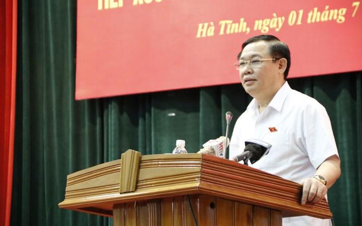 Phó Thủ tướng Chính phủ Vương Đình Huệ tiếp xúc cử tri tỉnh Hà Tĩnh - ảnh 1