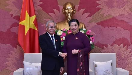 Đoàn Đại biểu cấp cao Đảng Liên đoàn Quốc gia vì Dân chủ cầm quyền tại Myanmar thăm Việt Nam - ảnh 1