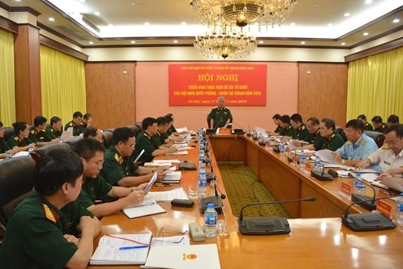 Triển khai thực hiện đề án tổ chức các Hội nghị Quốc phòng – Quân sự ASEAN năm 2020 - ảnh 1
