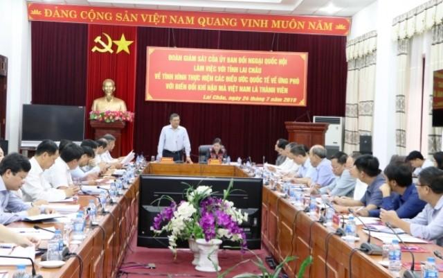 Đoàn giám sát của Ủy ban Đối ngoại của Quốc hội làm việc tại tỉnh Lai Châu - ảnh 1