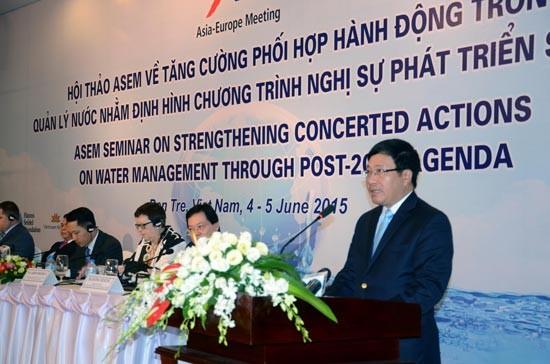 Важное значение придаётся усилению международного сотрудничества в управлении водными ресурсами - ảnh 1