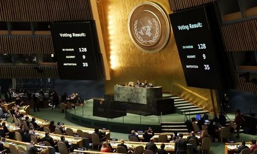 ГА ООН приняла резолюцию, призывающую США отменить решение об Иерусалиме - ảnh 1