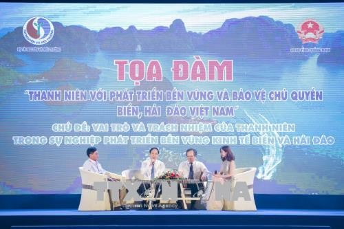 """Беседа """"Роль молодёжи в устойчивом развитии и защите суверенитета над морем и островами страны"""" - ảnh 1"""