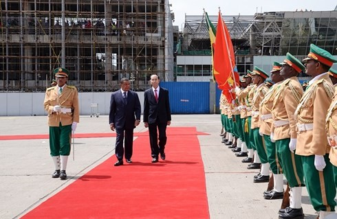 Президент Вьетнама Чан Дай Куанг начал государственный визит в Эфиопию  - ảnh 1