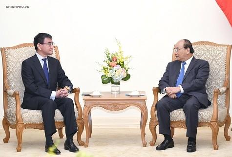 Премьер-министр Вьетнама принял руководителей Китая, Японии и Республики Корея  - ảnh 2