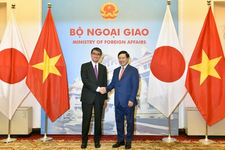 Вице-премьер, глава МИД Вьетнама провёл переговоры с министром иностранных дел Японии - ảnh 1
