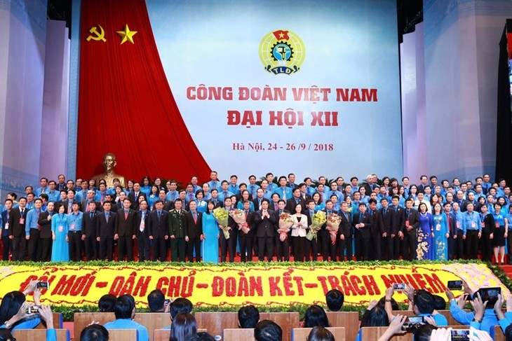 В Ханое завершился 12-й съезд профсоюзов Вьетнама - ảnh 1