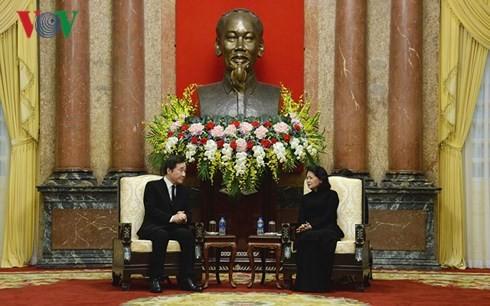 Данг Тхи Нгок Тхинь приняла премьер-министра РК и председатель верхней палаты Беларуси - ảnh 1