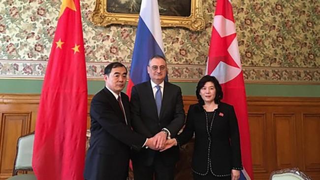 КНДР, Китай и Россия обсудили денуклеаризацию Корейского полуострова - ảnh 1