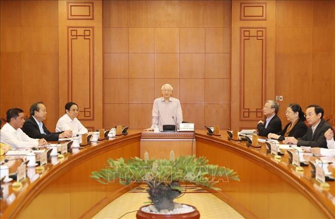 Нгуен Фу Чонг председательствовал на заседании комитета по кадровому планированию на стратегическом уровне - ảnh 1